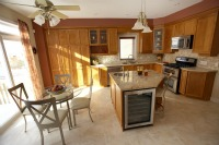 Kitchen area in a vacation rental