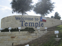 Welcome to Temple, TX