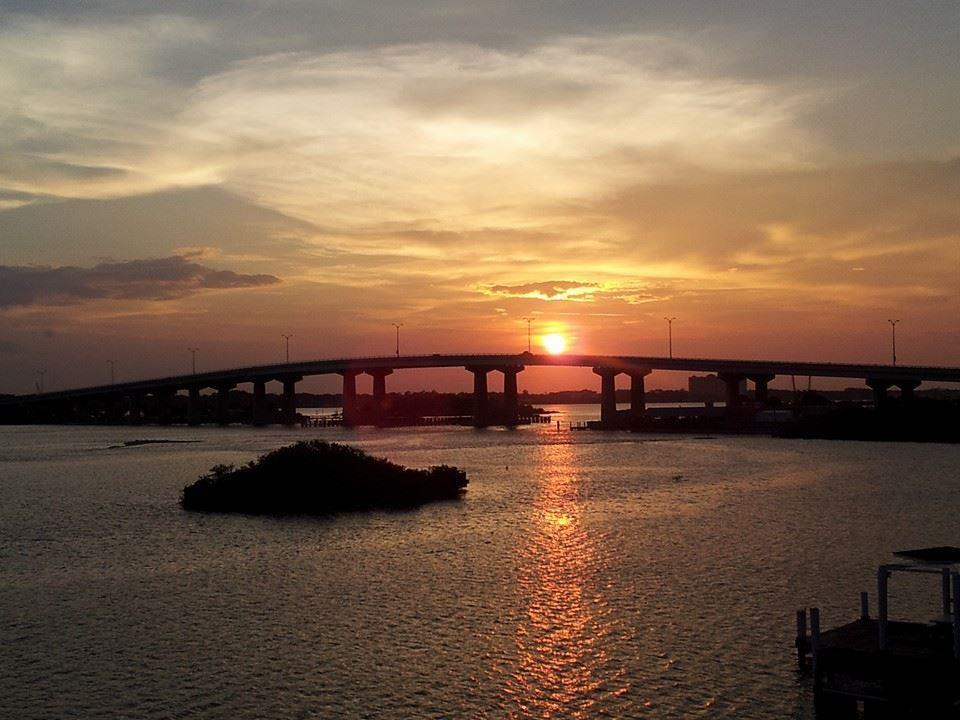 Port Orange Bridge at sunset