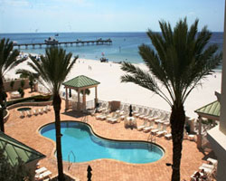 Pool has Beach & Gulf View