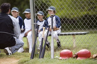 Little league players at Kinder Farm Park