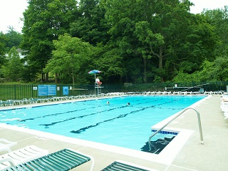 Pool in Panther Valley NJ gated community