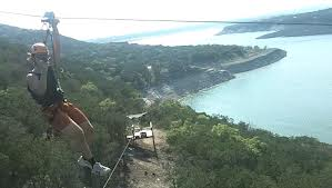 Zip Lining on Lake Travis TX
