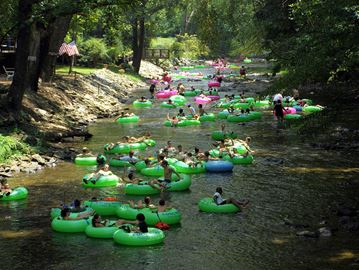 Tubing on Chattahootchie River