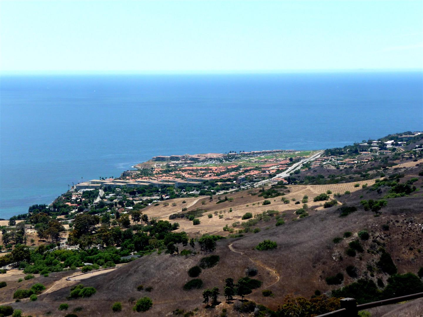 Terranea Resort view from Del Cerro Park in Rancho Palos Verdes