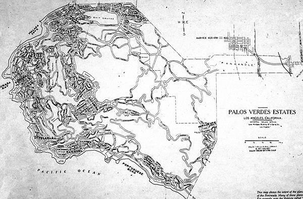 Original Road Plan for Palos Verdes