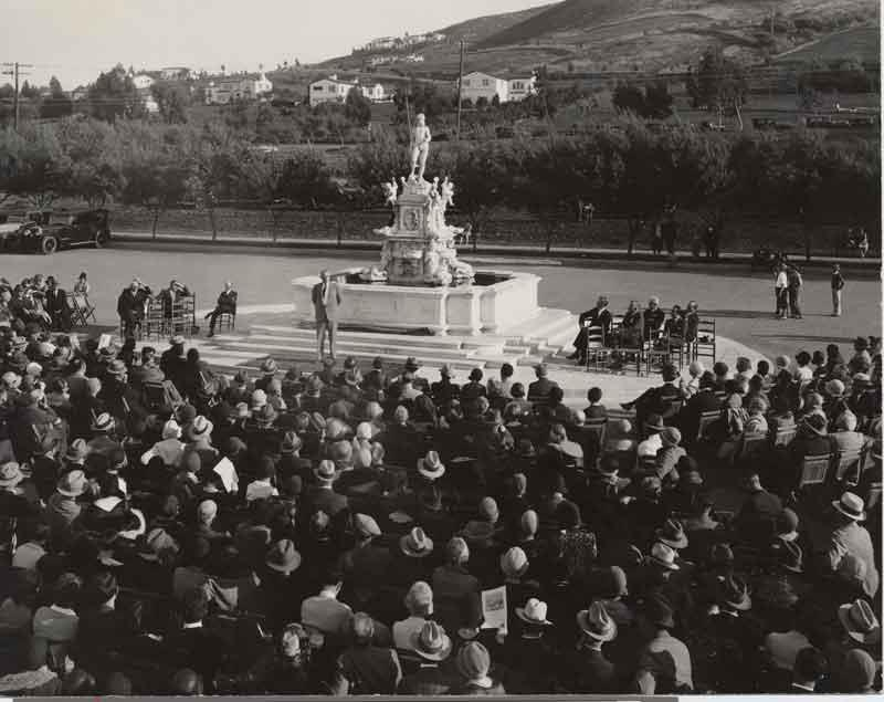Dedication of Neptune Fountain