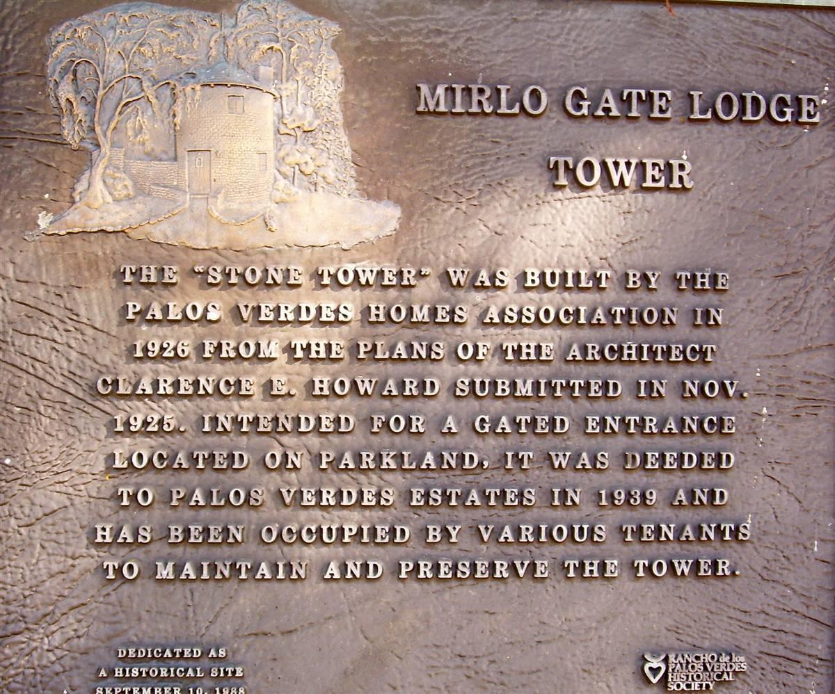 Mirlo Gatehouse Monument Plaque