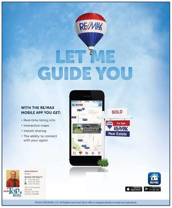 Mobile App | Jimatthetop | Jim Pedicord | RE/MAX Top Realty Houston