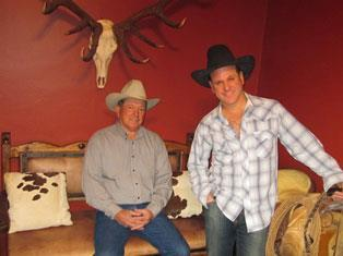 Steven Spreafico and his dad on ranch