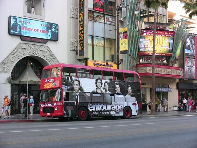 Movie star sightseeing tour bus Hollywood