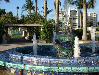 Fountain in Delray Beach, FL