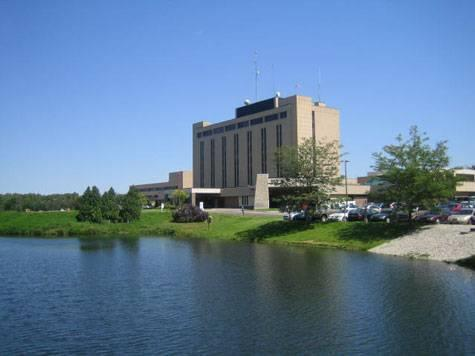 View of River and Flower Hospital