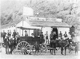 The Pascual Marquez Bath House, a favorite spot for vacationing beachhoers - 1887