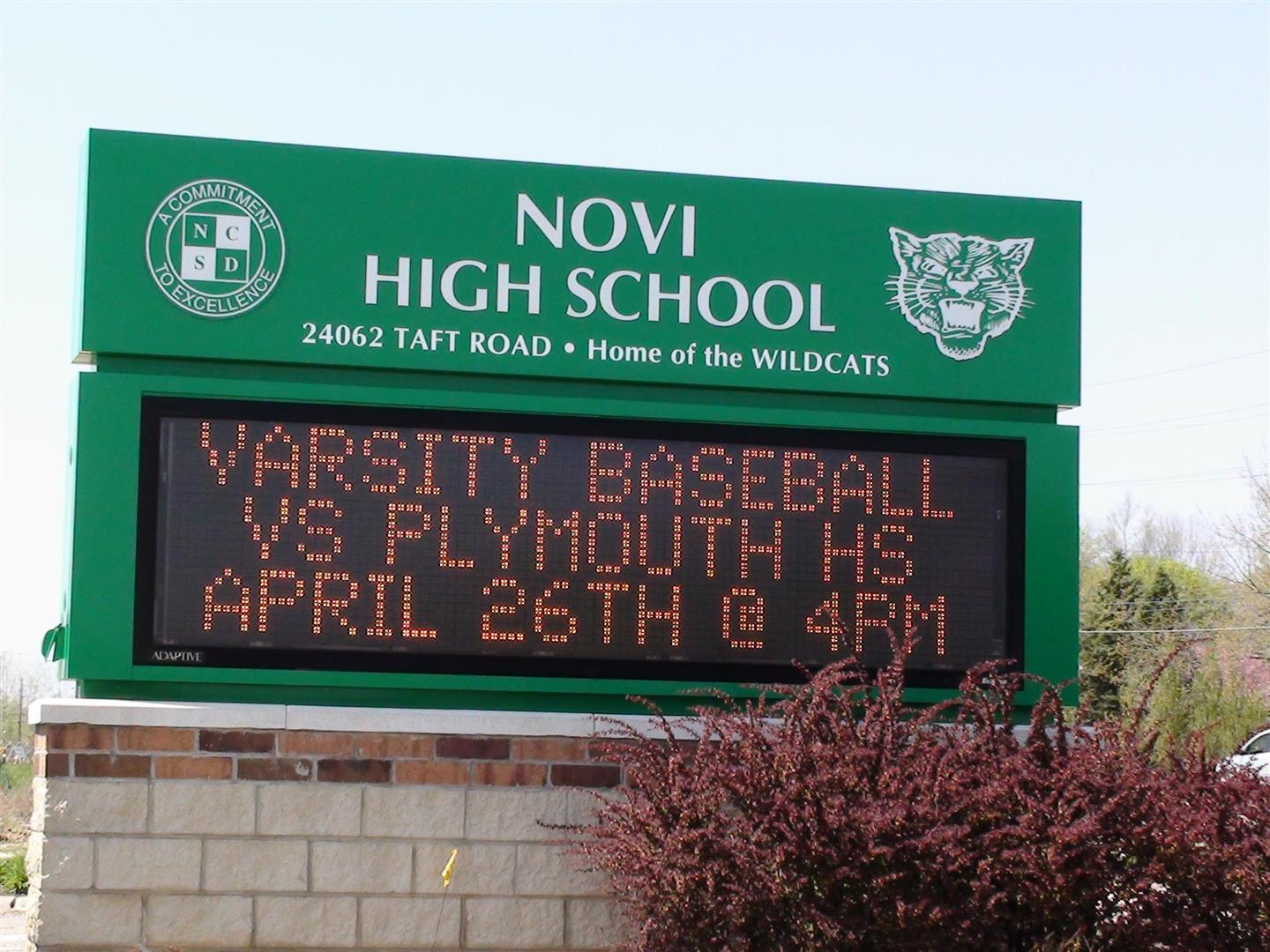 Novi Michigan High School