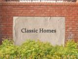 Classic Homes sign