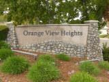 Orange View Heights sign