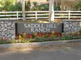 Saddle Hill Ranch sign