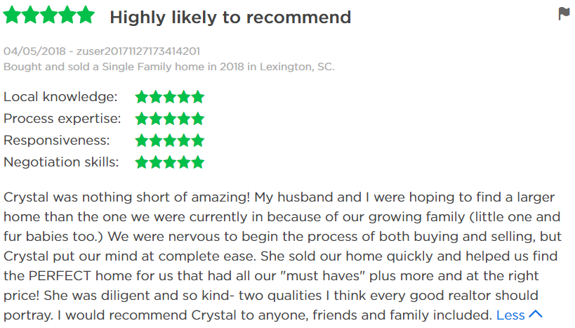 CrystalWallaceZillowReview.PNG