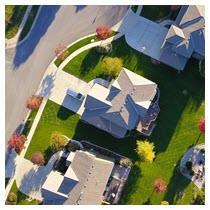 colorado neighborhood aerial view homes for sale
