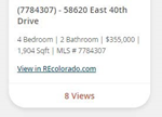 listing metrics compare address