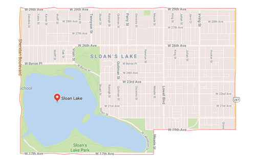 map sloans lake